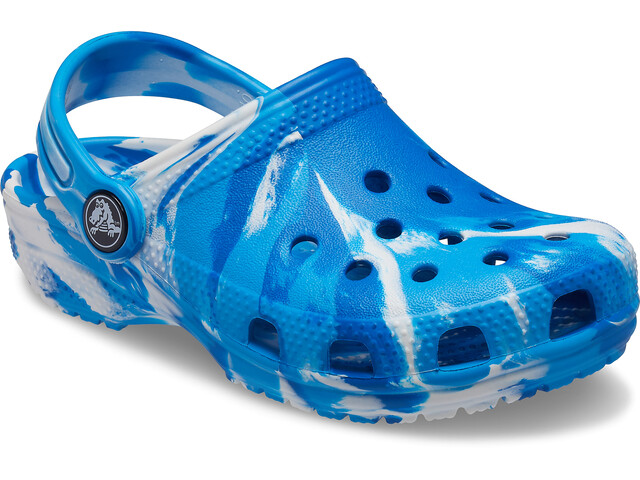 Crocs Classic Marbled Clogs Kids, bright cobalt/white